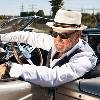 Sombrero panama hombre elegante