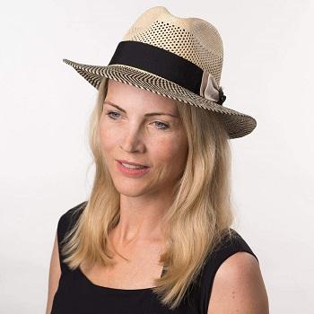 Sombrero panama mujer banda negra