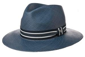 Sombrero panamá color azul