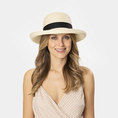 Sombrero panama mujer boda
