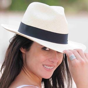 panama mujer sombrero