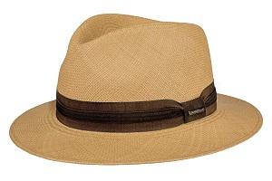sombrero panama de color marrón